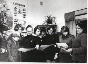 Музейная группа в школьном музее