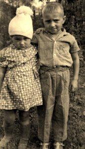 Сын Сергей и дочка Валентина 1966г.